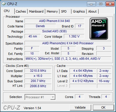 AMD Phenom II X4 840 Quad Core