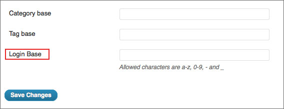 custom url login
