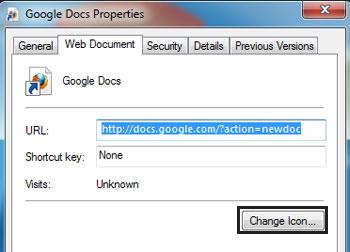 Google Docs shortcut