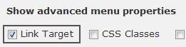 link target menu
