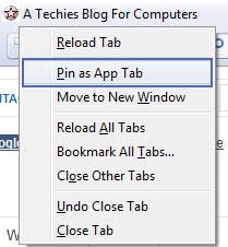 pin App tab