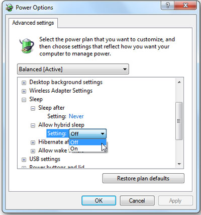 power-settings