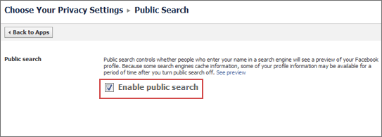 disable public search