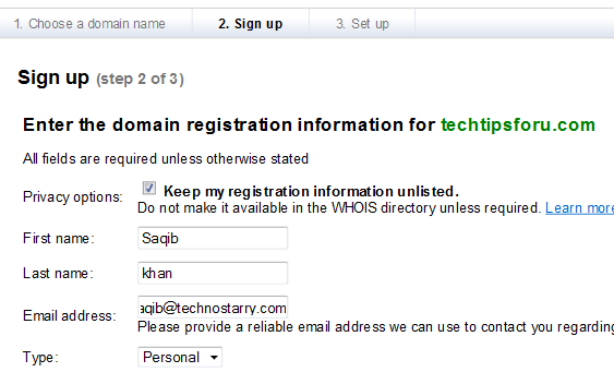 register google domain