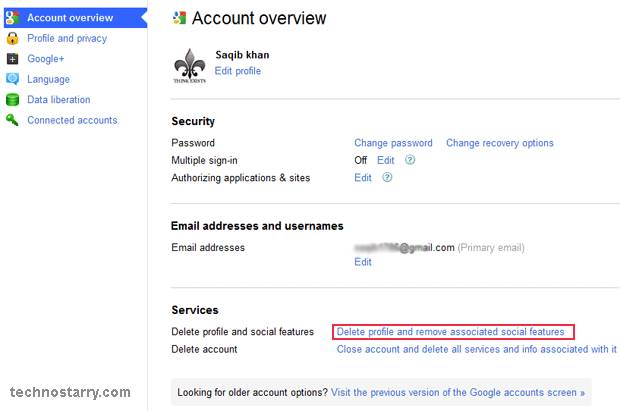 Google plus account overview