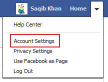 fb account settings