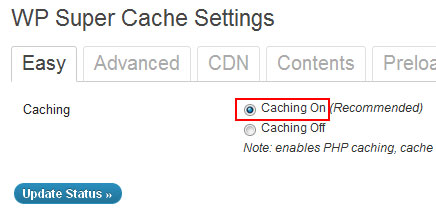 wp super cache CDN