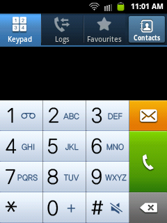 call dial screen