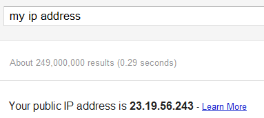 Google IP Address