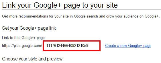 Wordpress Google plus page