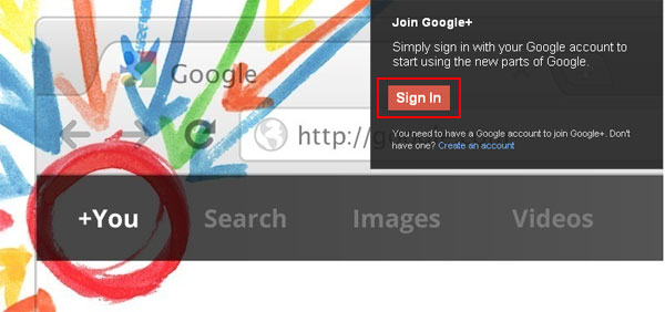 Sign up Google plus
