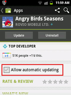 auto update apps