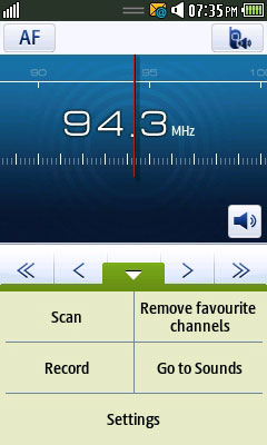 samsung wave radio