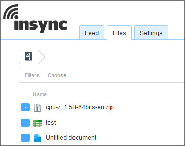 insync online interface