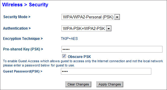 wifi security settings