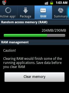 RAM management Anddroid