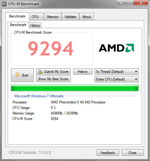 Cpu benchmark software