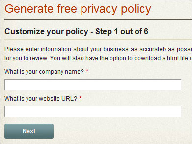 generate privacy policy