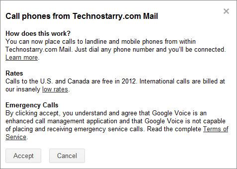 accept Google voice