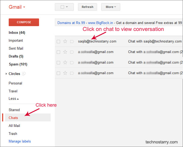 chat history gmail
