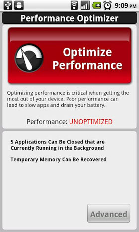 optimize performance Android