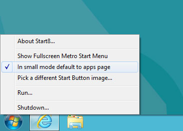 start button windows8