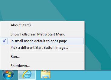 start button windows8