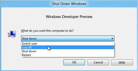 win8 shutdown