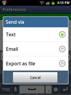 send via