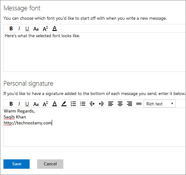 personal email signatures