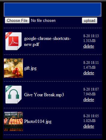 webdisk web UI
