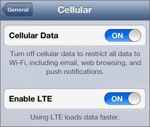 Disable 4G LTE