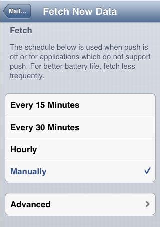 manually fetch data