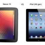 Nexus 10 ipad 4