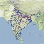 Indian railways on Google map