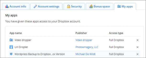 dropbox apps
