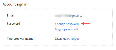 dropbox change password
