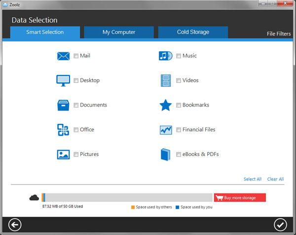 zoolz desktop client