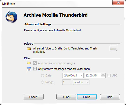 export thunderbird