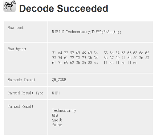 decode succeeded