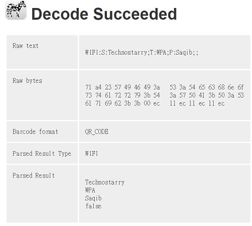decode succeeded