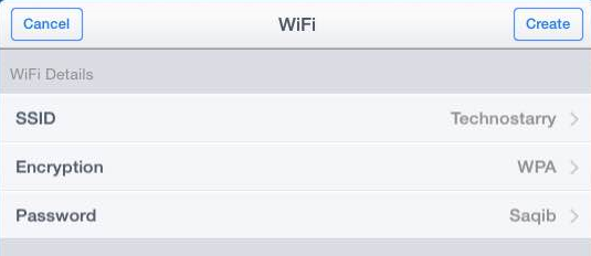 enteer wifi details