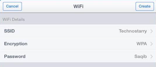 enteer wifi details