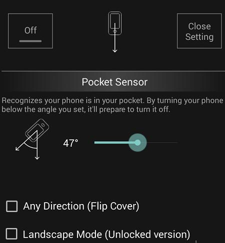 pcket sensor
