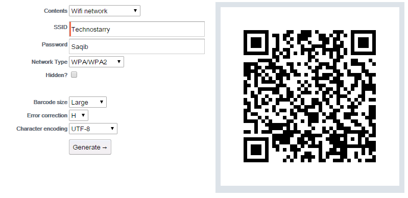 How to Share your Wi-Fi SSID & Password Using a QR Code