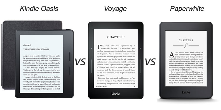 Kindle oasis vs voyage vs paperwhite
