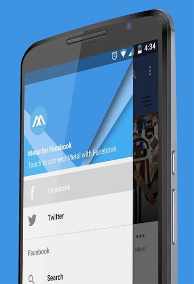 metal facebook app