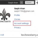 plus account settings