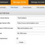 create CDN zone