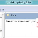 Windows 8 policy